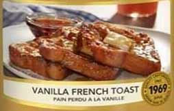 Vanilla Toast French